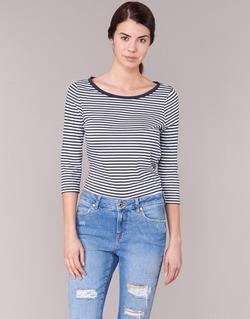 Abbigliamento Donna T-shirts a maniche lunghe Vero Moda MARLEY MARINE / Bianco