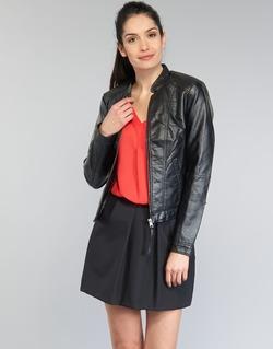 Abbigliamento Donna Giacca in cuoio / simil cuoio Vero Moda QUEEN Nero