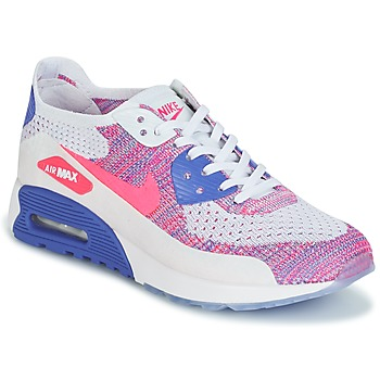 Scarpe Donna Sneakers basse Nike AIR MAX 90 FLYKNIT ULTRA 2.0 W Bianco / Blu / Rosa
