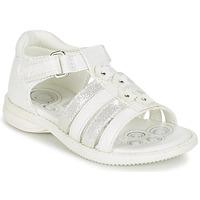 Scarpe Bambina Sandali Chicco CAROTA Bianco / Argento