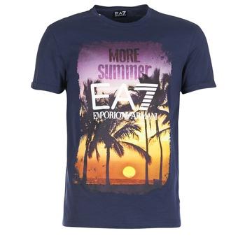 Abbigliamento Uomo T-shirt maniche corte Emporio Armani EA7 TRAIN GRAPHIC Blu