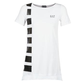Abbigliamento Donna Tuniche Emporio Armani EA7 TRAIN MASTER Bianco / Nero
