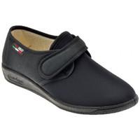 Scarpe Donna Pantofole Gaviga Morbidone Velcro Elastic. Moppine nero