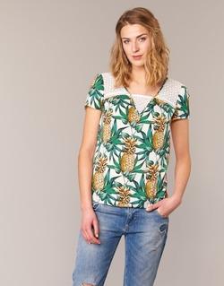 Abbigliamento Donna Top / Blusa Naf Naf E-ANANAS Bianco / Verde / Giallo