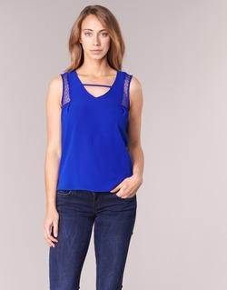 Abbigliamento Donna Top / T-shirt senza maniche Naf Naf OPIPA Blu