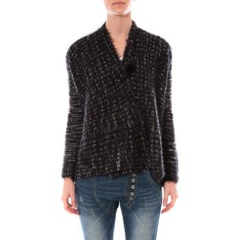 Abbigliamento Donna Maglioni De Fil En Aiguille Gilet  Maella Noir FT15 Nero