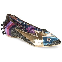 Scarpe Donna Ballerine Irregular Choice GROUND CONTROL Nero / Oro