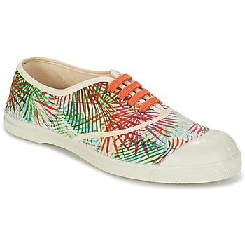 Scarpe Donna Sneakers basse Bensimon TENNIS FEUILLES EXOTIQUES ECRU / Arancio / Verde