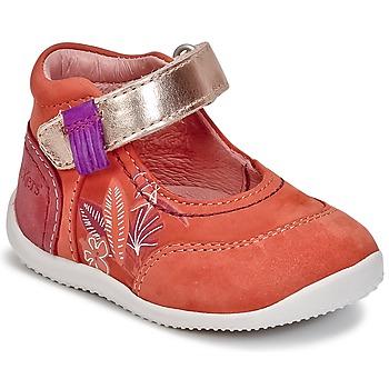 Scarpe Bambina Ballerine Kickers BIMAMBO Arancio / Fucsia / Rosa
