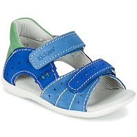 Scarpe Bambino Sandali Kickers BOPING Blu / Verde