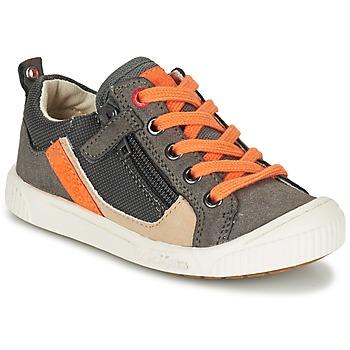Scarpe Bambino Sneakers basse Kickers ZIGZAGUER Grigio / Arancio