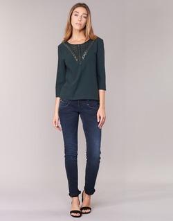 Abbigliamento Donna Jeans slim Freeman T.Porter ALEXA SLIM SDM Blu / SCURO