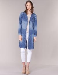 Abbigliamento Donna Trench Cream DENIM TRENCHCOAT DENIM