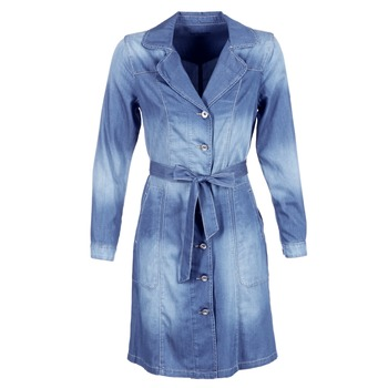 Abbigliamento Donna Trench Cream DENIM TRENCHCOAT Denim