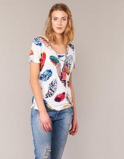 Abbigliamento Donna T-shirt maniche corte Derhy JACQUOT Bianco / Multicolore