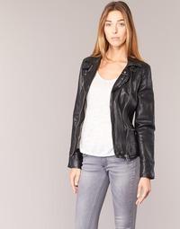 Abbigliamento Donna Giacca in cuoio / simil cuoio Oakwood 62065 Nero