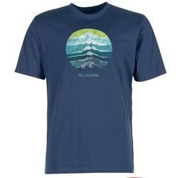 Abbigliamento Uomo T-shirt maniche corte Columbia CSC MOUNTAIN SUNSET Blu