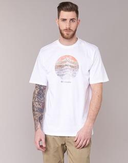 Abbigliamento Uomo T-shirt maniche corte Columbia CSC MOUNTAIN SUNSET Bianco