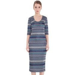 Abbigliamento Donna Vestiti Patrizia Pepe Midi dress in lurex jersey blue Multicolor