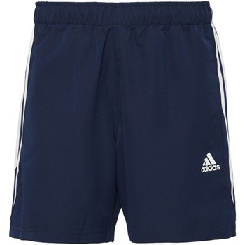 Abbigliamento Uomo Shorts / Bermuda Adidas Athletics Short Sport Essentials 3-Stripes Chelsea Blu Scuro / Bianca