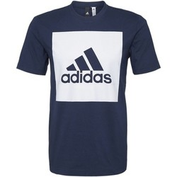 Abbigliamento Uomo T-shirt maniche corte Adidas Athletics T-shirt Essentials Box Logo Blu Scuro