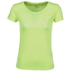 Abbigliamento Donna T-shirt maniche corte Only Play BASIC Giallo
