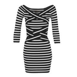 Abbigliamento Donna Abiti corti Morgan RBEST Nero / ECRU