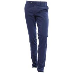 Abbigliamento Uomo Chino Pto5 PANTALONE  IN COTONE BLU SCURO Blue