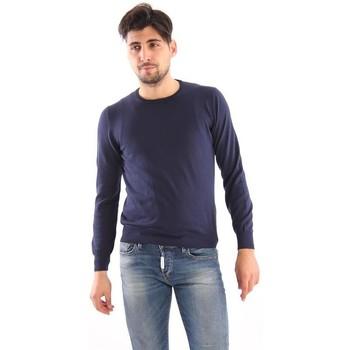 Abbigliamento Uomo Maglioni M.marte MAGLIA GIROCOLLO IN COTONE BLU Blue