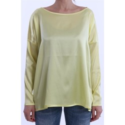 Abbigliamento Donna T-shirts a maniche lunghe Solo Tre T-SHIRT NIOI GIALLA IN SETA MODELLO OVER Altri