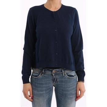 Abbigliamento Donna Maglioni Solo Tre CARDIGAN NIOI BLU CON INSERTO PLISSE  IN SETA Altri