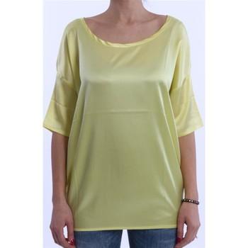 Abbigliamento Donna T-shirt maniche corte Solo Tre T-SHIRT NIOI GIALLA IN SETA MODELLO OVER Altri