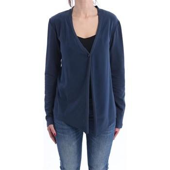 Abbigliamento Donna Gilet / Cardigan Alysi CARDIGAN  BLU IN COTONE Blue
