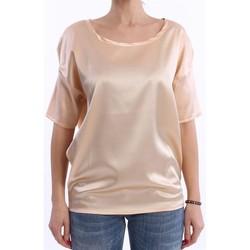 Abbigliamento Donna T-shirt maniche corte Solo Tre T-SHIRT NIOI ROSA PESCA IN SETA MODELLO OVER Altri