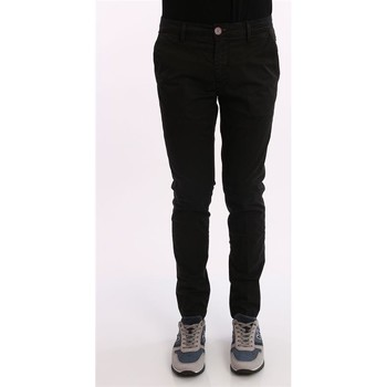 Abbigliamento Uomo Chino Yan Simmon PANTALONI NERI IN COTONE Black