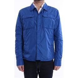 Abbigliamento Uomo Giubbotti Add GIUBBOTTO SFODERATO IN NYLON AZZURRO Blue