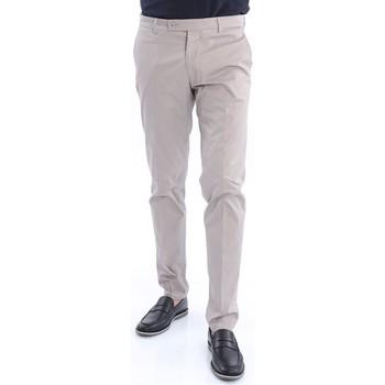 Abbigliamento Uomo Chino Berwich PANTALONE  IN COTONE STRETCH BEIGE Beige