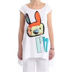 Abbigliamento Donna T-shirt maniche corte I'm Isola Marras OVER T-SHIRT  CON STAMPA I M White