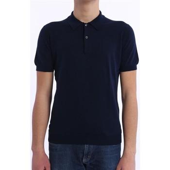Abbigliamento Uomo Polo maniche corte M.marte POLO BLU IN COTONE Blue