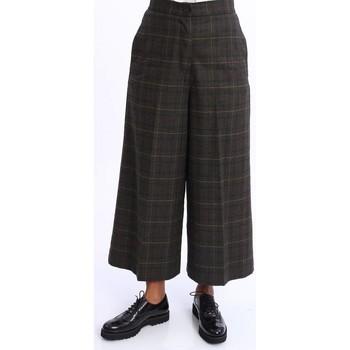 Abbigliamento Donna Pantaloni morbidi / Pantaloni alla zuava I'm Isola Marras PANTALONE  VERDE PRINCIPE DI GALLES Green
