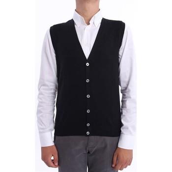 Abbigliamento Uomo Gilet / Cardigan M.marte GILET  NERO IN LANA RASATA Black