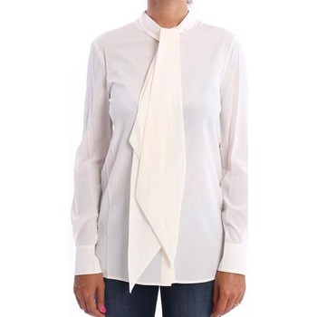 Abbigliamento Donna Camicie Tory Burch CAMICIA COLOR AVORIO IN SETA White