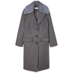 Abbigliamento Donna Cappotti Tory Burch CAPPOTTO COCOON Grey