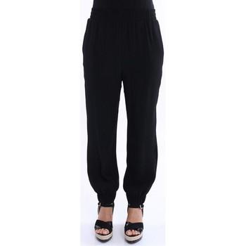 Abbigliamento Donna Pantaloni morbidi / Pantaloni alla zuava I'm Isola Marras PANTALONE LARGO  NERO CON ELASTICO Black