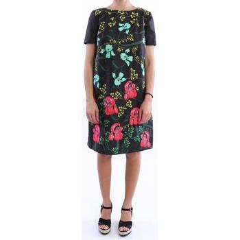Abbigliamento Donna Abiti corti I'm Isola Marras ABITO  NERO CON STAMPA FIORATA Multicoloured