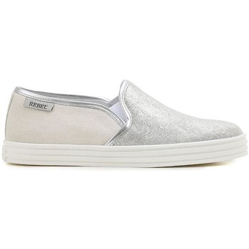 Scarpe Donna Slip on Hogan REBEL ESPADRILLAS COLOR GHIACCIO Silver