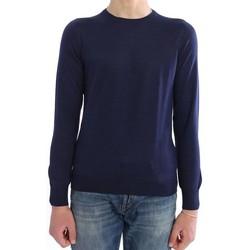 Abbigliamento Uomo Maglioni M.marte MAGLIA GIROCOLLO IN LANA E SETA BLU Blue