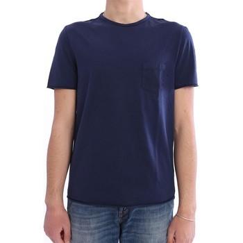 Abbigliamento Uomo T-shirt maniche corte M.marte T-SHIRT CON TASCHINO IN COTONE BLU Blue