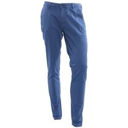Abbigliamento Uomo Chino Yan Simmon PANTALONI IN GABARDINA STRETCH AVIO Blue