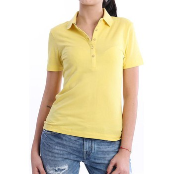 Abbigliamento Donna Polo maniche corte Tory Burch POLO  DA DONNA MEZZA MANICA GIALLA Yellow